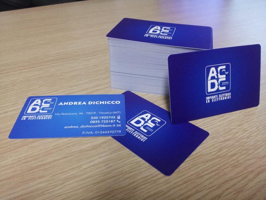 Bigliettino da visita per AC/DC Impianti elettrici ed Elettronici