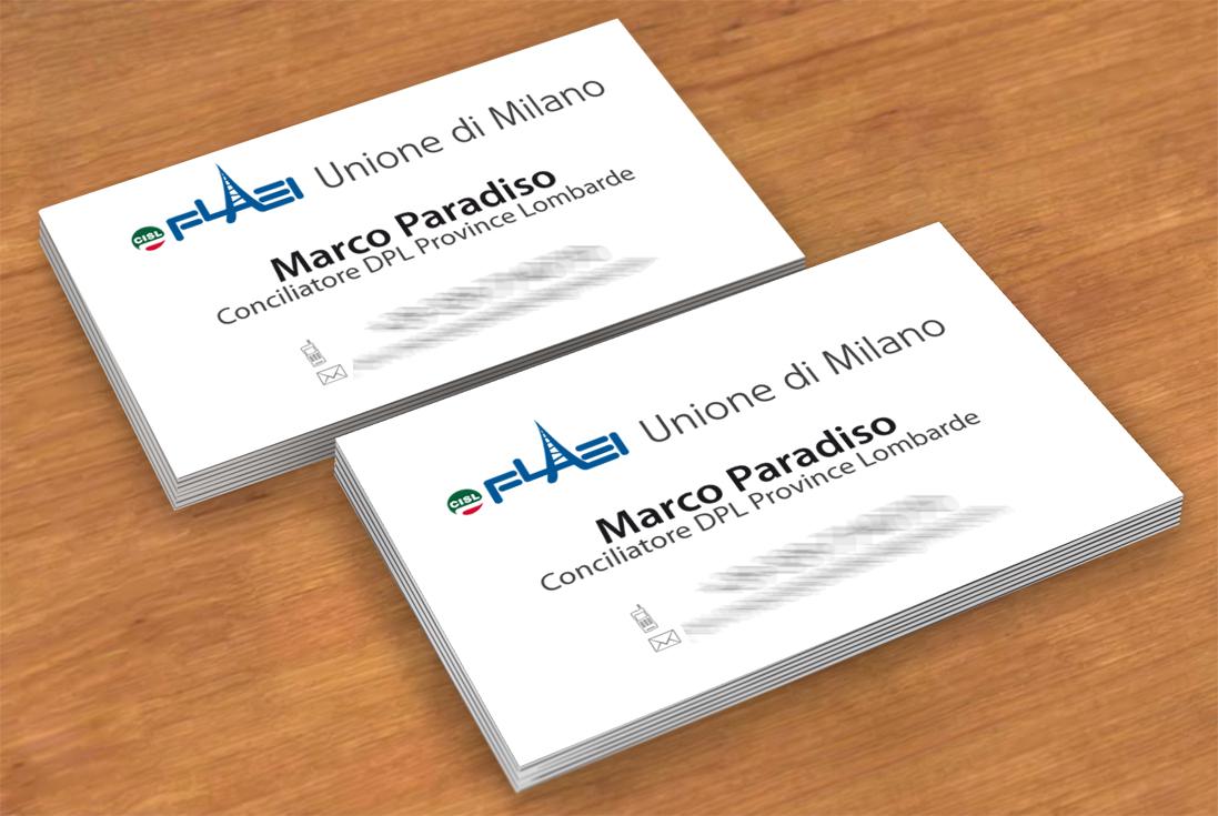 Bigliettino da visita Conciliatore DPL Province Lombarde - Milano