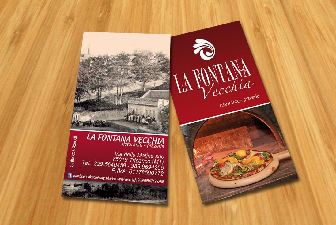 Bigliettino da visita per La Fontana Vecchia Pizzeria Ristorante