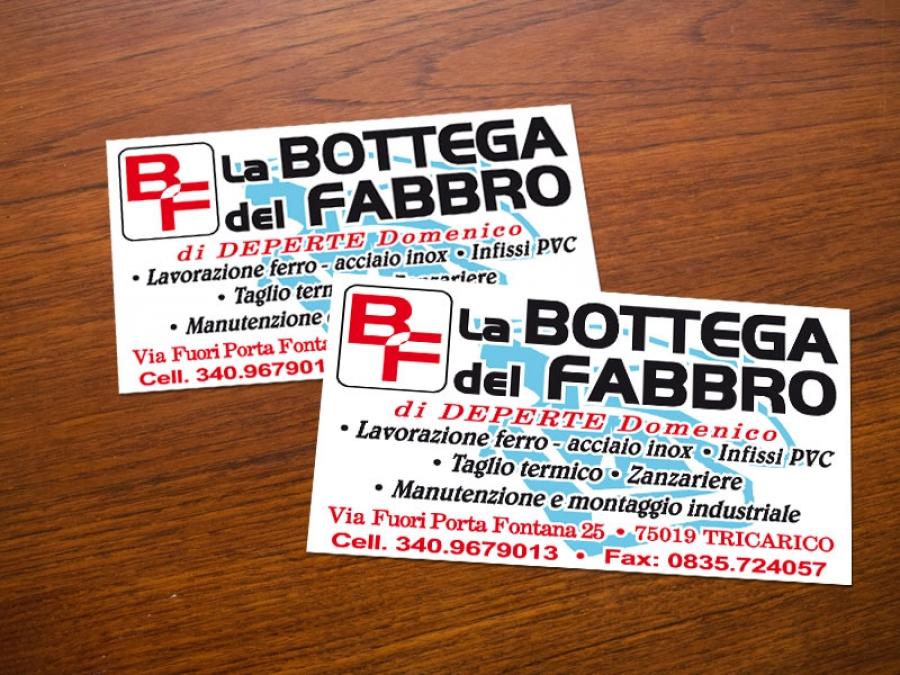 Bigliettino da visita per La Bottega del Fabbro