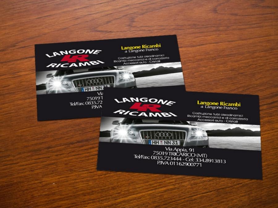 Bigliettino da visita per Langone Ricambi