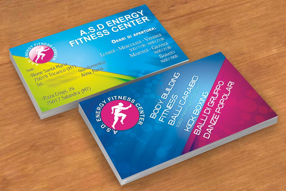 Bigliettino da visita per Energy Fitness Center