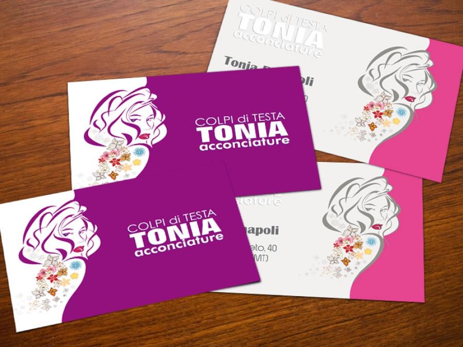 Bigliettino da visita per Colpi di testa TONIA Acconciature