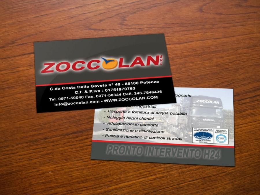 Bigliettino da visita per Zoccolan srl