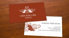 Bigliettino da visita per Vitivinicola Auletta