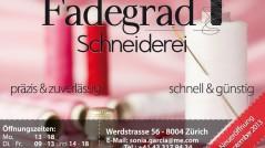 """Invito Inaugurazione """"Fadegrad Schneiderei"""" Zurigo - Svizzera"""