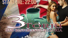 "Locandina evento ""LATIN DISCO"" Ristorante Pizzeria ""Tre Torri"" - Tricarico"