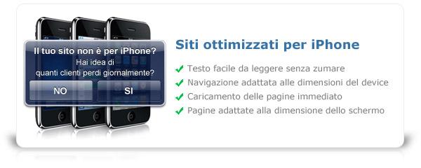 Realizzazione siti internet ottimizzati per iPhone e web mobile