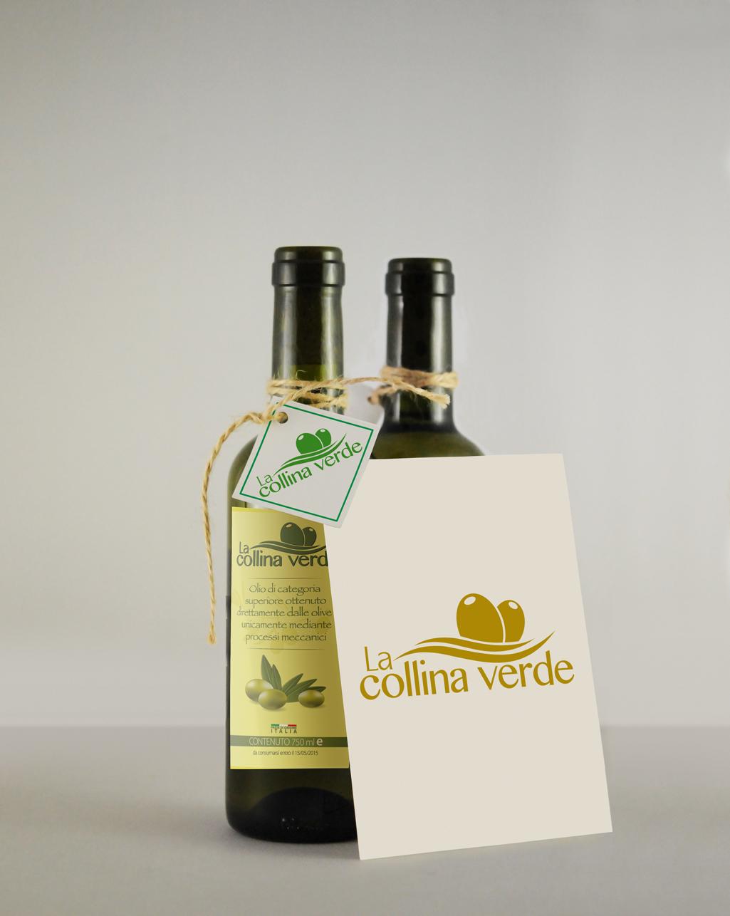 Etichetta adesiva per bottiglia olio - Tricarico