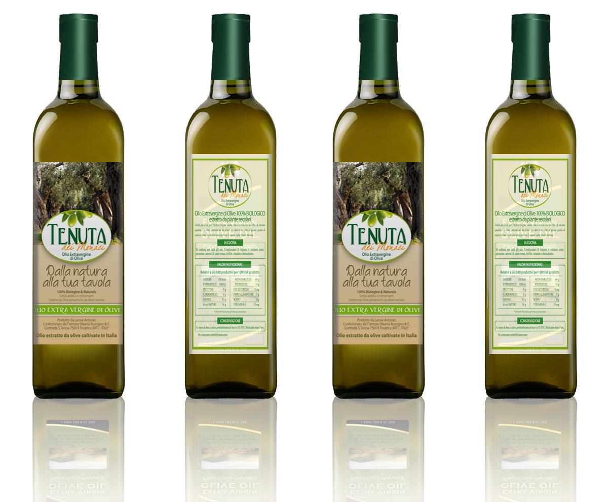 Eccezionale Etichetta bottiglia olio extravergine | meldesigner.it BN93