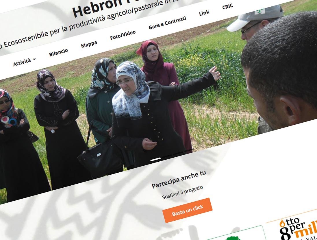 Hebron Palestina - Intervento Ecosostenibile per la produttività agricolo/pastorale in zone semiaride del governato di Hebron